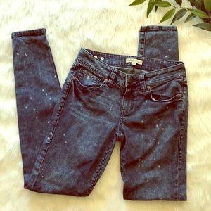 cAbi bleach splattered jeans size 2